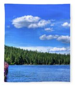 Beautiful Luby Bay On Priest Lake Fleece Blanket