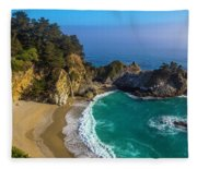 Beautiful Mcway Falls Cove Fleece Blanket
