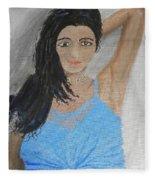 Beautiful Model Fleece Blanket