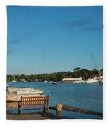 Beautiful Mylor Bridge Fleece Blanket