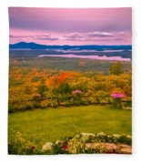 Beautiful Overview Of New Hampshire Fleece Blanket