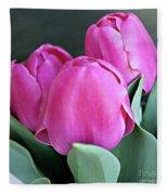 Beautiful Pink Lipstick Fleece Blanket