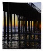 Beautiful Pismo Beach Sunset Fleece Blanket