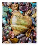 Beautiful Polished Colorful Stones Fleece Blanket
