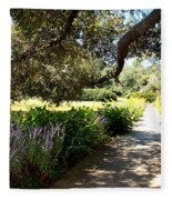 Beautiful Pond Path Fleece Blanket