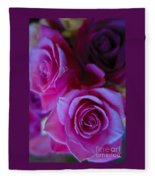 Beautiful Purple Roses 2 Fleece Blanket