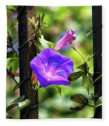 Beautiful Railroad Vine Flower II  Fleece Blanket