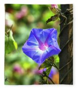 Beautiful Railroad Vine Flower Fleece Blanket