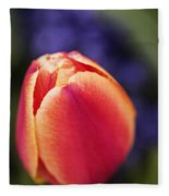 Beautiful Red And Orange Colored Tulip  Fleece Blanket