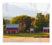 Beautiful Red Barn 3 Fleece Blanket
