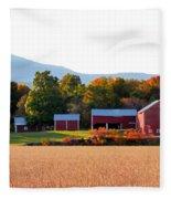 Beautiful Red Barn 4 Fleece Blanket