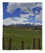 Beautiful Rocky Mountains Fleece Blanket
