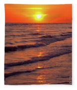 Beautiful Sanibel Sunset Fleece Blanket