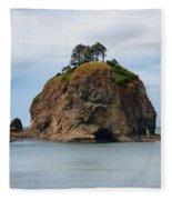 Beautiful Sea Stack Washington Coast Fleece Blanket