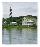 Beautiful St Augustine Lighthouse Waterfront Fleece Blanket