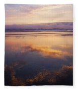 Beautiful Sunset Along Oregon Coast Fleece Blanket