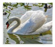 Beautiful Swan Fleece Blanket