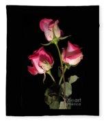 Beautiful Two Tone Roses 3 Fleece Blanket