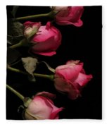 Beautiful Two Tone Roses 4 Fleece Blanket