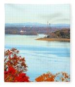 Beautiful View Of The Hudson River 1 Fleece Blanket