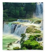 Beautiful Waterfall Crystal Waters Fleece Blanket