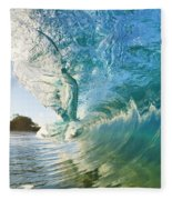 Beautiful Wave And Sunlight Fleece Blanket