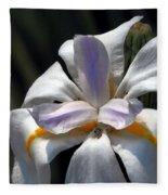 Beautiful White Day Lily Fleece Blanket