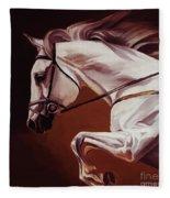 Beautiful White Running Horse 9iu Fleece Blanket