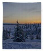 Beautiful Winter Sunrise Fleece Blanket