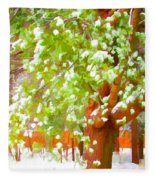 Beautiful Winter Tree Fleece Blanket
