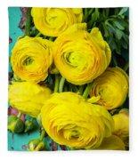 Beautiful Yellow Ranunculus Fleece Blanket