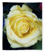 Beautiful Yellow Rose Fleece Blanket