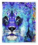 Beauty And The Beast - Lion Art - Sharon Cummings Fleece Blanket