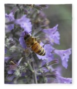 Beauty And The Bee Fleece Blanket