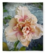 Beauty And The Boulder - Daylily Fleece Blanket