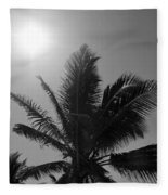 Beauty And The Palms In  Dominican Republic  Fleece Blanket