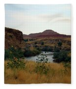 Beauty At The Big Horn River Fleece Blanket