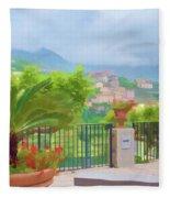 Beauty In Capri Fleece Blanket