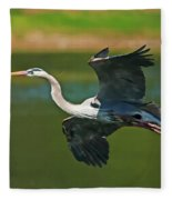 Beauty In Flight Fleece Blanket