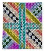 Beauty In The Cross Fleece Blanket