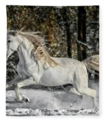 Beauty In The Snow Fleece Blanket