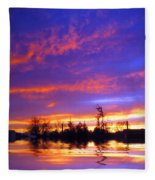 Beauty In The Storm Fleece Blanket