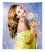 Beauty Of Romance Floating In The Summer Breeze Fleece Blanket
