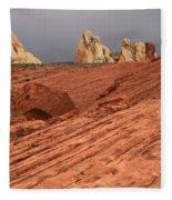 Beauty Of The Sandstone Landscape Fleece Blanket