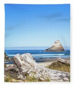 Beauty On The Pacific Coast Fleece Blanket