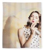 Beauty Parlour Pinup Fleece Blanket