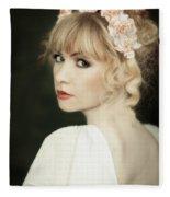 Beauty Portrait Fleece Blanket