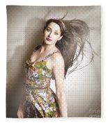Beauty Salon Pinup Fleece Blanket