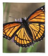 Beauty With Wings Fleece Blanket