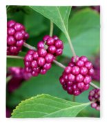 Beautyberry Bush Fleece Blanket